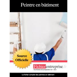 Fichier email des peintres en bâtiment