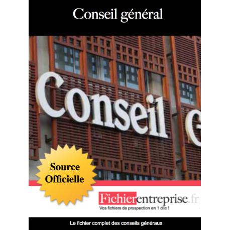 Fichier email des conseils généraux