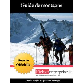 Base email des guides de montagne