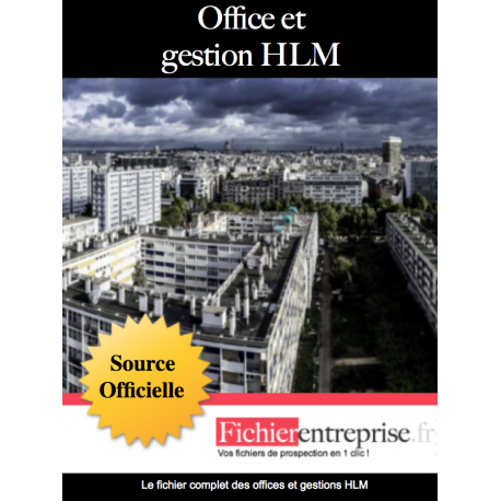 Fichier email des offices et gestions HLM