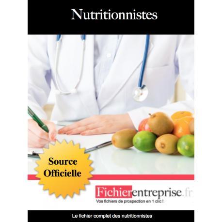 Fichier email des nutritionnistes