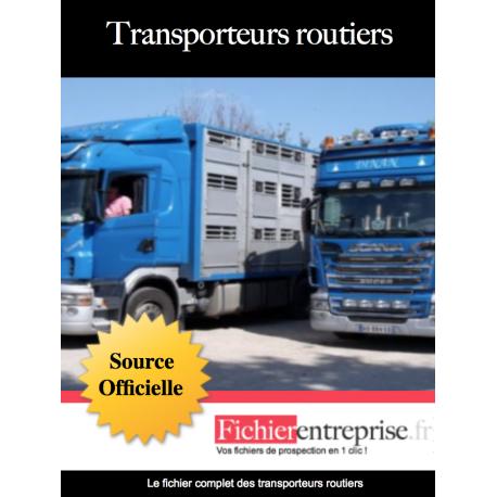 Fichier email des transporteurs routier