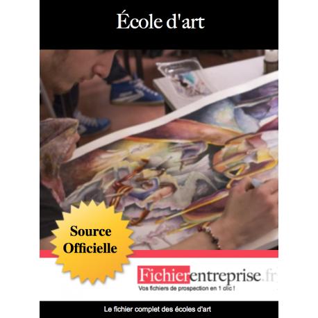 Fichier email des écoles d'art