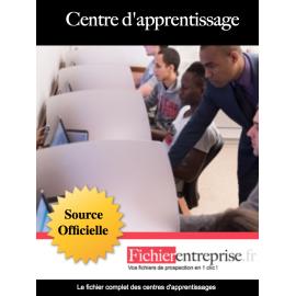 Fichier email des centres d'apprentissage