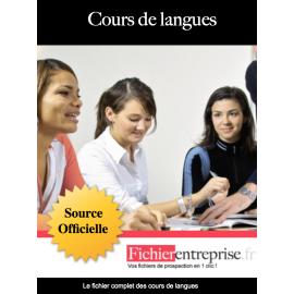Fichier email des cours de langues