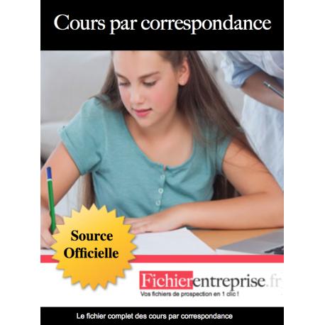 Fichier email des cours par correspondance