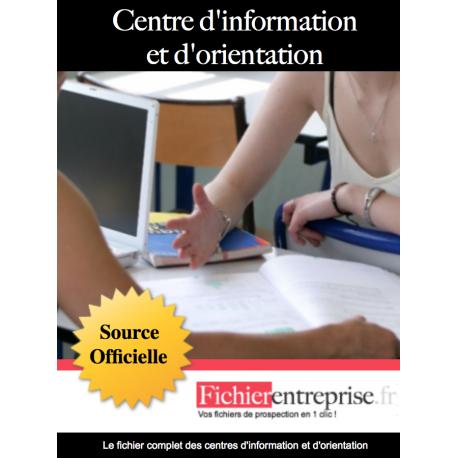 Fichier email des centres d'orientations CIO