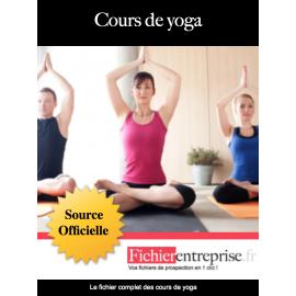 Fichier email des cours de yoga