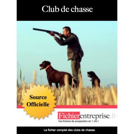 Fichier email des clubs de chasse
