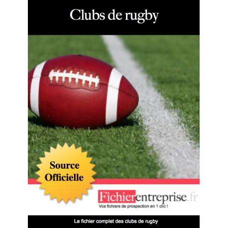 Fichier email des clubs de rugby