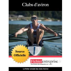 Fichier email des clubs d'aviron