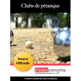 Fichier email des clubs de pétanque