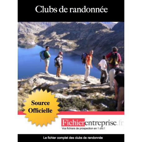 Fichier email des clubs de randonnée