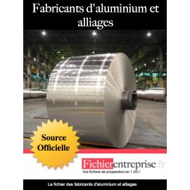 Fichier fabricant d'aluminium et alliages