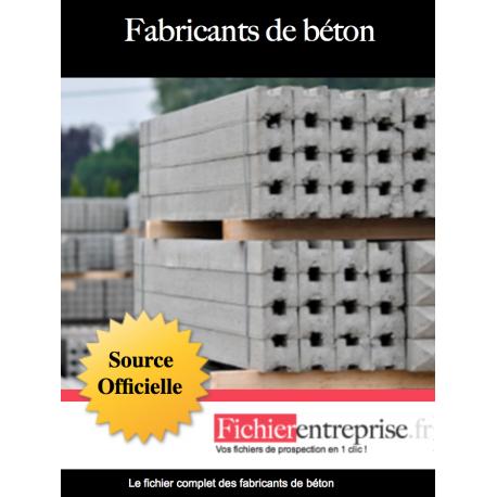 Fichier des fabricants de béton
