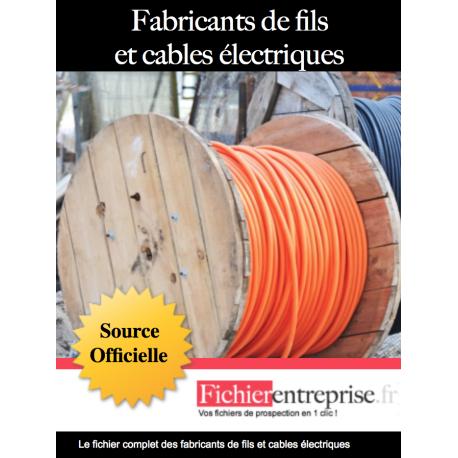 Fichier fabricants de câbles et fils électriques