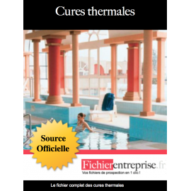 Fichier email des cures thermales