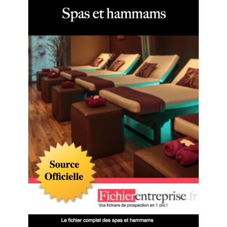 Fichier email des spas et hammams