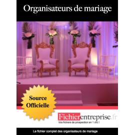 Fichier email des organisateurs de mariage