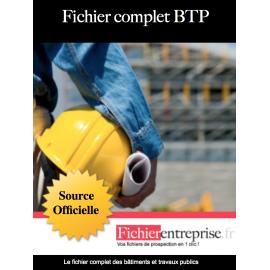 Fichier complet Bâtiment BTP