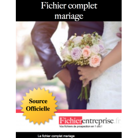 Fichier complet mariage