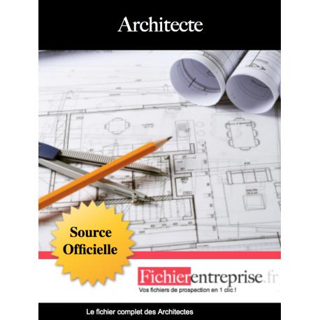 Fichier des architectes