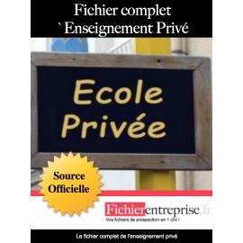 Fichier complet enseignement privée