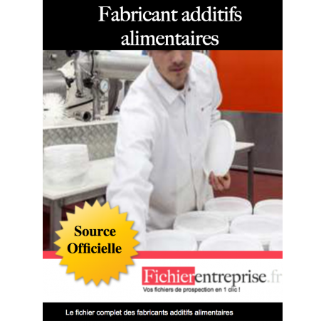 Fichier email fabricants additifs alimentaires