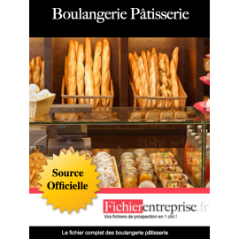 Fichier des boulangeries pâtisseries