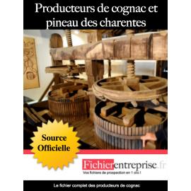 Fichier des producteurs de cognac et pineau des charentes