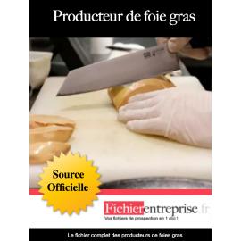 Fichier producteur de foie gras