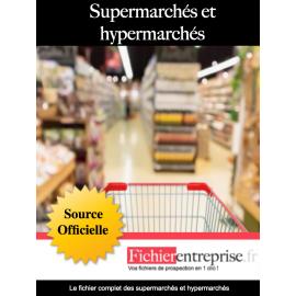 Fichier des supermarchés et hypermarchés