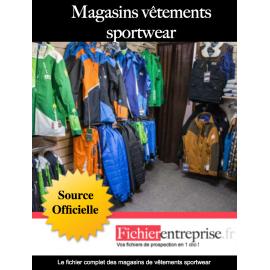 Fichier magasin vêtements sportwear