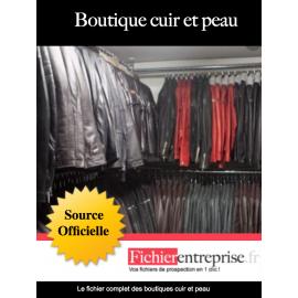 Fichier boutique de cuir et peau