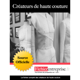 Fichier des créateurs de haute couture