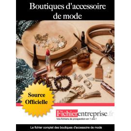 Fichier boutique d'accessoire de mode