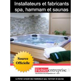 Fichier installateurs spa, hammam et saunas