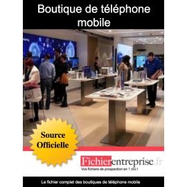 Fichier boutique de téléphone mobile