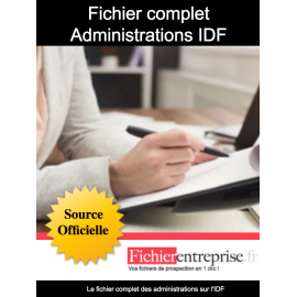 Fichier administrations IDF