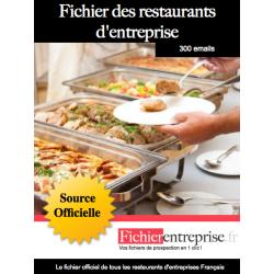Fichier email restaurants d'entreprises