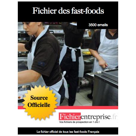 Fichier des fast-foods