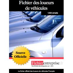 Fichier des loueurs de véhicules