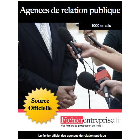 Fichier des agences de relation publique