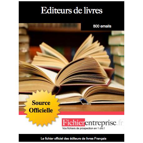 Fichier des éditeurs de livres