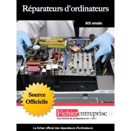 Fichier des réparateurs d'ordinateurs