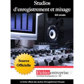 Fichier des studios d'enregistrement