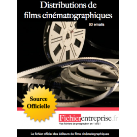 Fichier distributeur film cinématographique