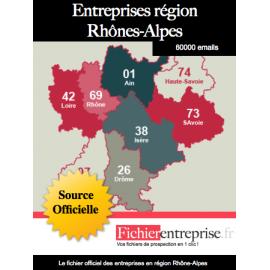 Fichier email Rhône-Alpes