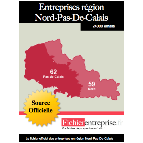 Fichier email Nord-Pas-De-Calais