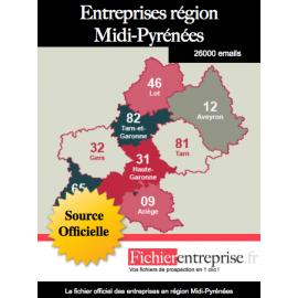 Fichier email Midi-Pyrénées